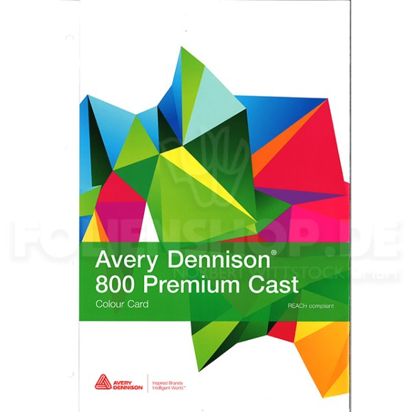Farbkarte Avery Dennison® 800 Premium Cast Film