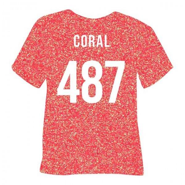 Poli-Flex Pearl Glitter 487   Coral