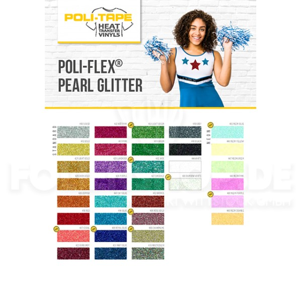 Farbkarte POLI-FLEX® PEARL GLITTER