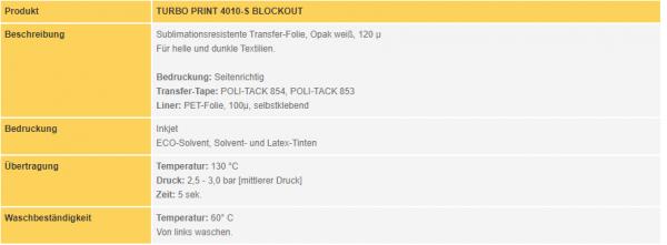 POLI-FLEX® TURBO Print 4010-S Blockout Soft | White