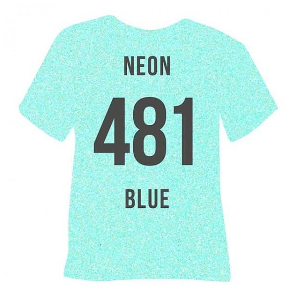 Poli-Flex Pearl Glitter 481 | Neon Blue