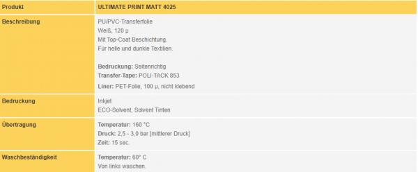 Poli-Flex Ultimate Print 4025 | White Matt