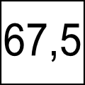 67,5 cm