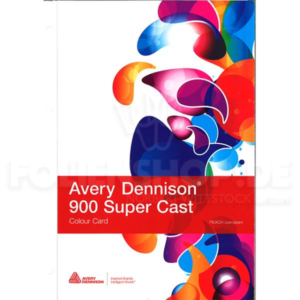 Farbkarte Avery Dennison® 900 Super Cast