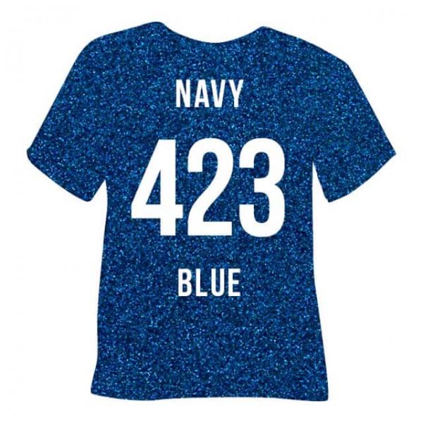 Poli-Flex Pearl Glitter 423   Navy Blue