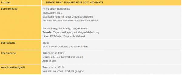 Poli-Flex Ultimate Print Soft 4034 | Transparent Matt
