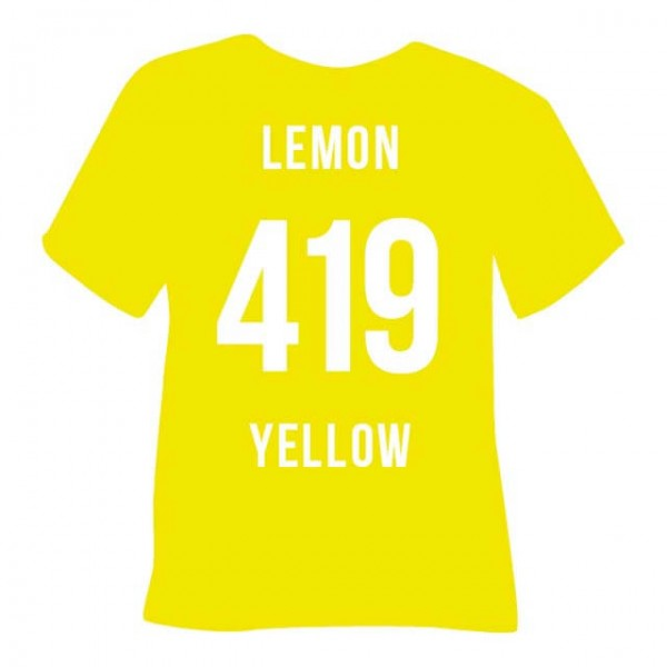 Poli-Flex Premium 419 | Lemon Yellow
