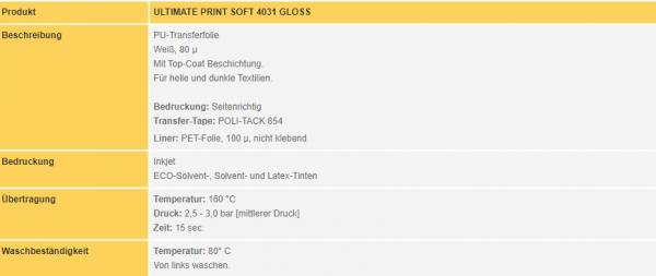 Poli-Flex Ultimate Print Soft 4031 | White Gloss