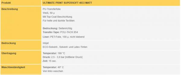 Poli-Flex Ultimate Print Supersoft 4033 | White Matt