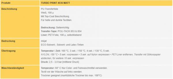 POLI-FLEX® TURBO Print 4036 | White Matt