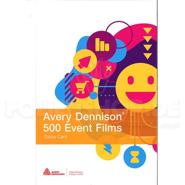 Farbkarte Avery Dennison® 500 Event Film