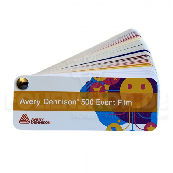 Farbfächer Avery Dennison® 500 Event Film