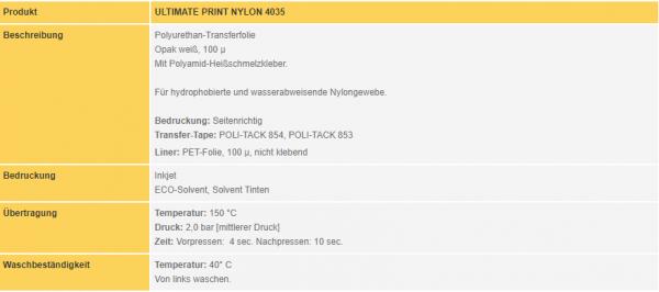 Poli-Flex Ultimate Print Nylon 4035 | White Matt